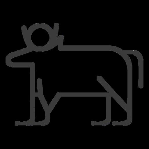 Touro vaca isis sol chifre divindade acidente vascular cerebral Transparent PNG