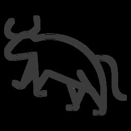 Toro cola vaca animal isis cuerno divinidad trazo