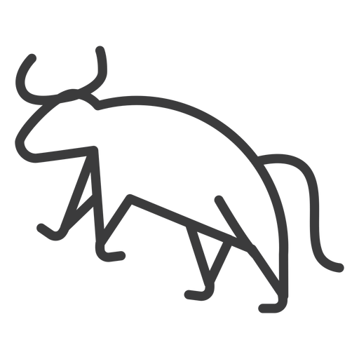 Bull tail cow animal isis horn divinity stroke Transparent PNG