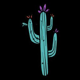 Esboço de cor de cor de espinho flor cacto
