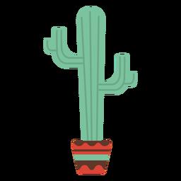 Kaktustopf flach