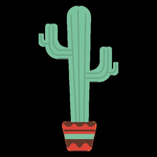 Maceta de cactus plana Transparent PNG