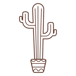 Cactus pot stroke