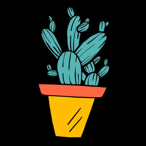 Cactus pot thorn color colour sketch Transparent PNG