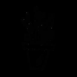Esboço de espinho de pote de cacto