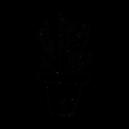 Esboço de espinho de pote de cacto Transparent PNG