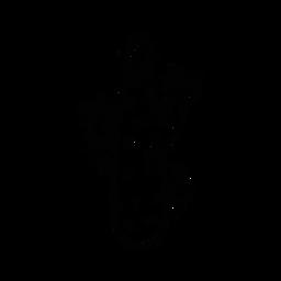 Kaktus-Dorn-Skizze