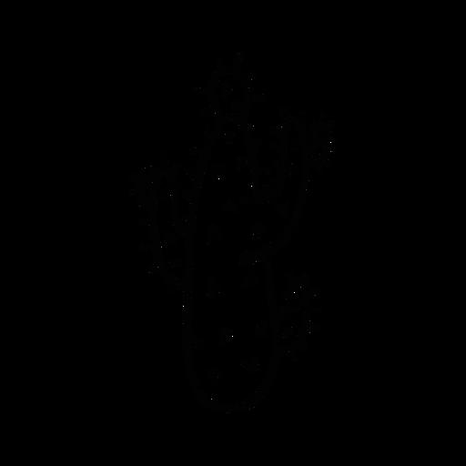Esboço de espinho de cacto Transparent PNG