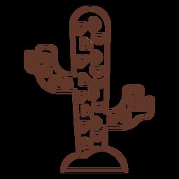 Cactus espina trazo