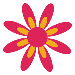 Camomile flower petal aster flat