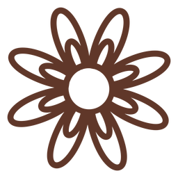 Camomile flower petal aster stroke