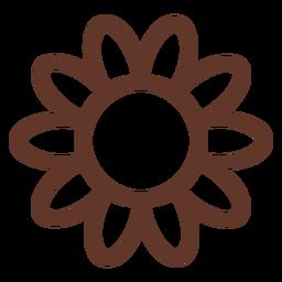 Manzanilla flor girasol pétalo aster trazo