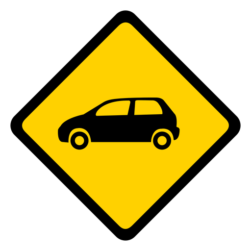 Car automobile rhomb warning flat Transparent PNG