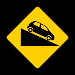 Carro descida rhomb aviso plano