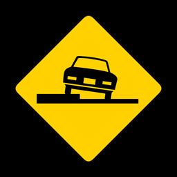 Aparcamiento de coches rombo advertencia plana