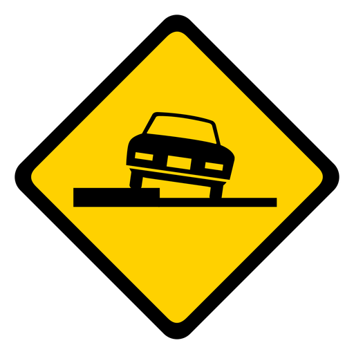 Car parking rhomb warning flat Transparent PNG