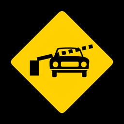 Coche ferrocarril cruce barrera barrera rombo advertencia plana