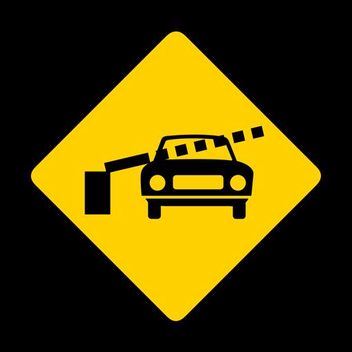 Coche ferrocarril cruce barrera barrera rombo advertencia plana Transparent PNG