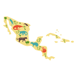 Central america illustration