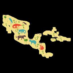 Ilustración de america central