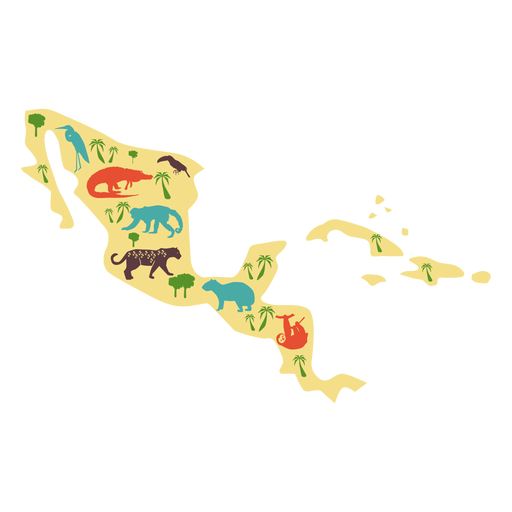 Central america illustration Transparent PNG