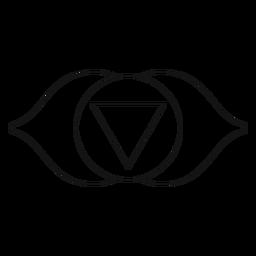 Chakra Ajna-Symbol
