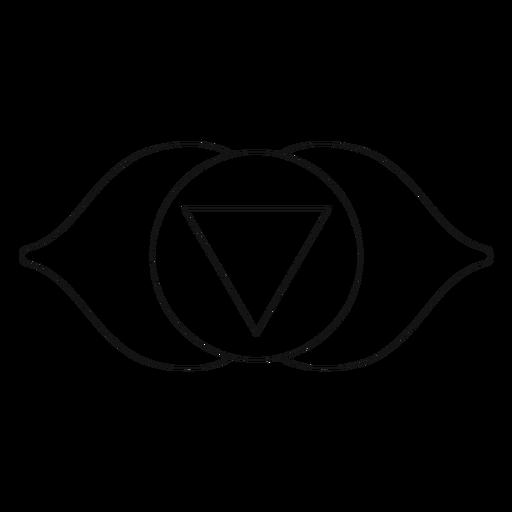 Icono de chakra ajna Transparent PNG