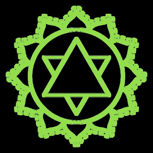 Icono de chakra anahata Transparent PNG