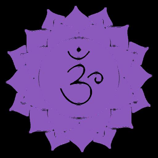 Icono de chakra sahasrara Transparent PNG
