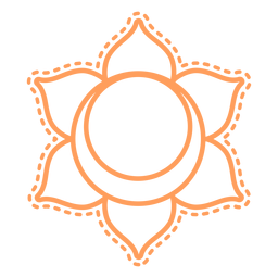 Chakra svadhishthana icono de trazo