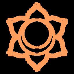 Chakra Svadhishthana Schlaganfall-Symbol