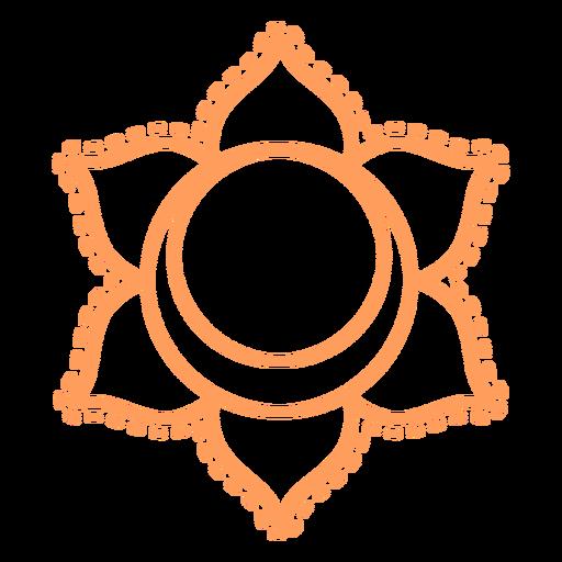 Chakra svadhishthana stroke icon Transparent PNG