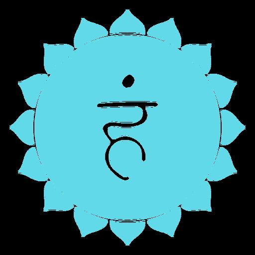 Icono de Chakra Vishuddha Transparent PNG