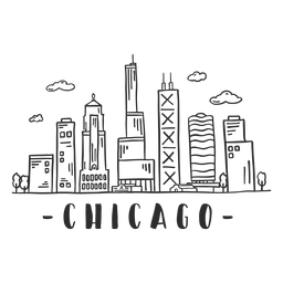 Chicago spire business center sky scraper skyline sticker