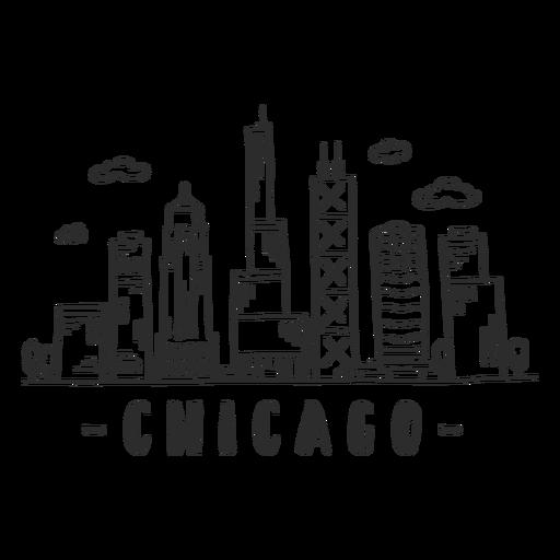 Adesivo de arranha-céu no centro de negócios do Chicago spire