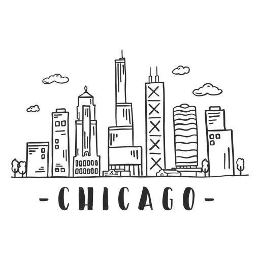 Chicago spire business center sky scraper mall cloud skyline sticker Transparent PNG