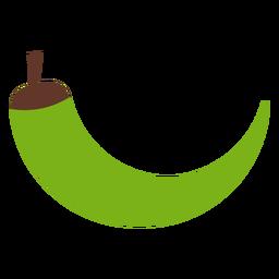 Chile pimiento verde plano