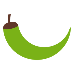 Pimenta verde plana