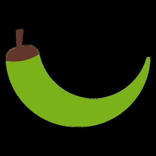 Chile pimiento verde plano Transparent PNG