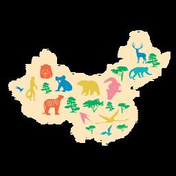 Ilustración de mapa de china