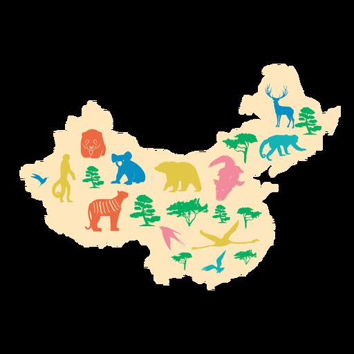 Ilustración de mapa de china Transparent PNG