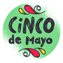 Etiqueta do emblema do crachá de Cinco de Mayo