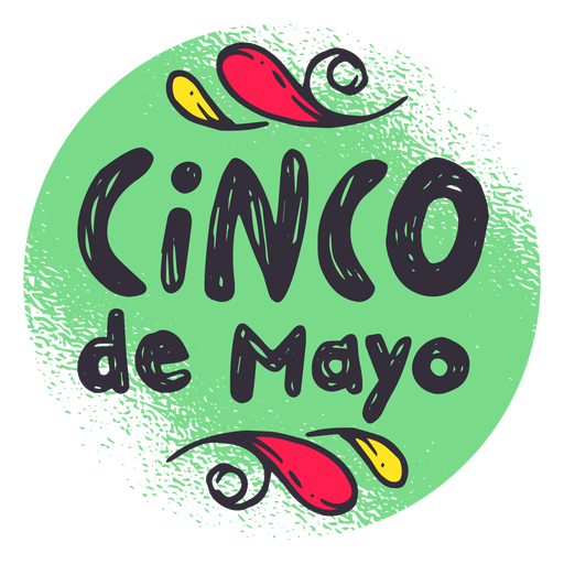 Cinco de mayo badge emblem sticker Transparent PNG