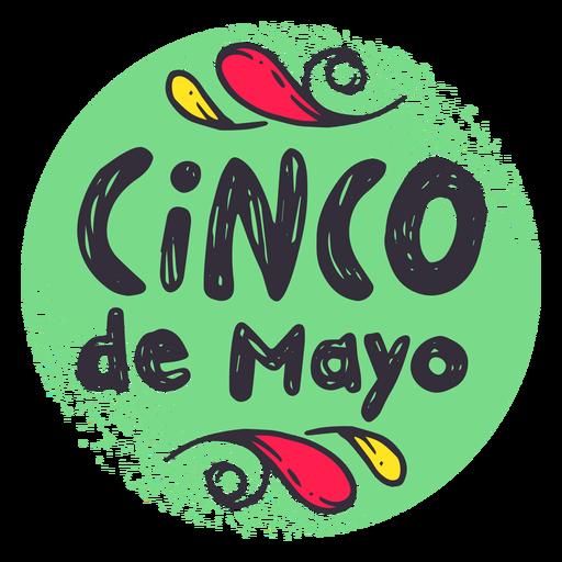 Etiqueta do emblema do crachá de Cinco de Mayo Transparent PNG