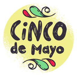 Cinco de mayo badge sticker