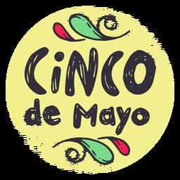 Etiqueta engomada de la insignia del cinco de mayo