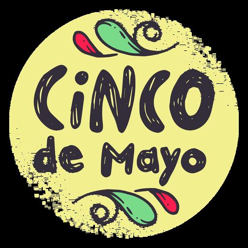 Cinco de mayo badge sticker