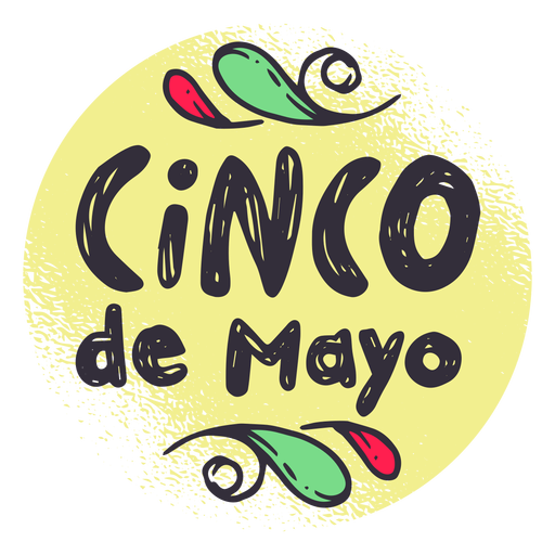 Etiqueta do crachá de Cinco de Mayo Transparent PNG