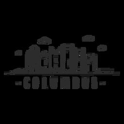 Columbus-Brückenhauben-Turmgeschäftszentrum-Himmelschaberzentrumwolkenskylineaufkleber