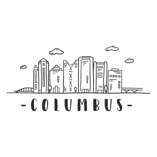 Columbus bridge dome tower business center sky scraper mall cloud skyline sticker Transparent PNG